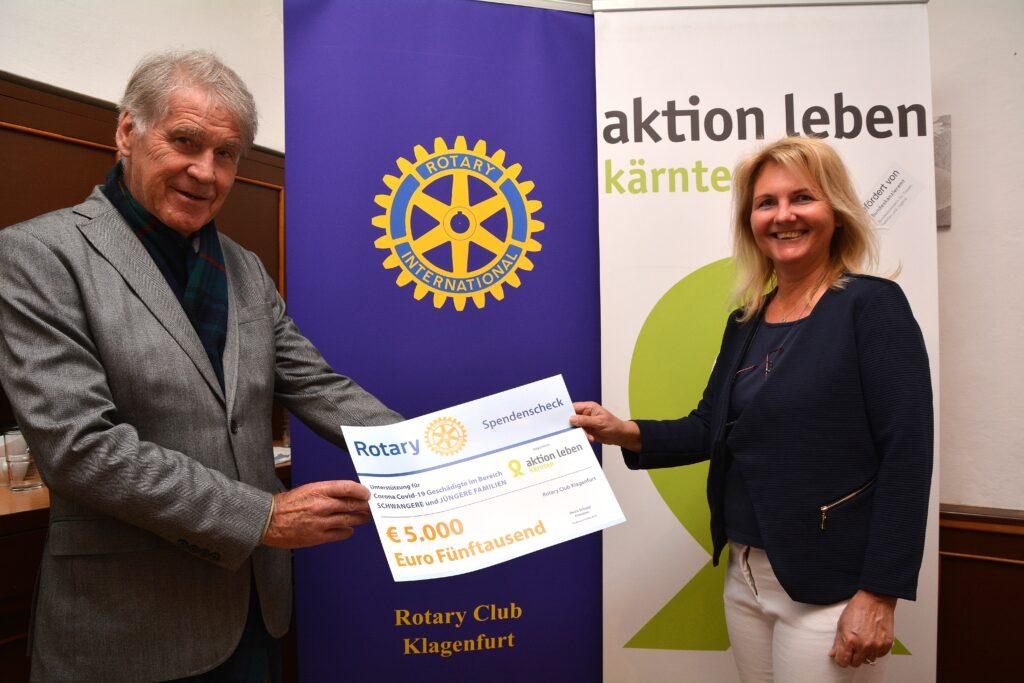 Spende vom Rotary Club Klagenfurt Wörthersee